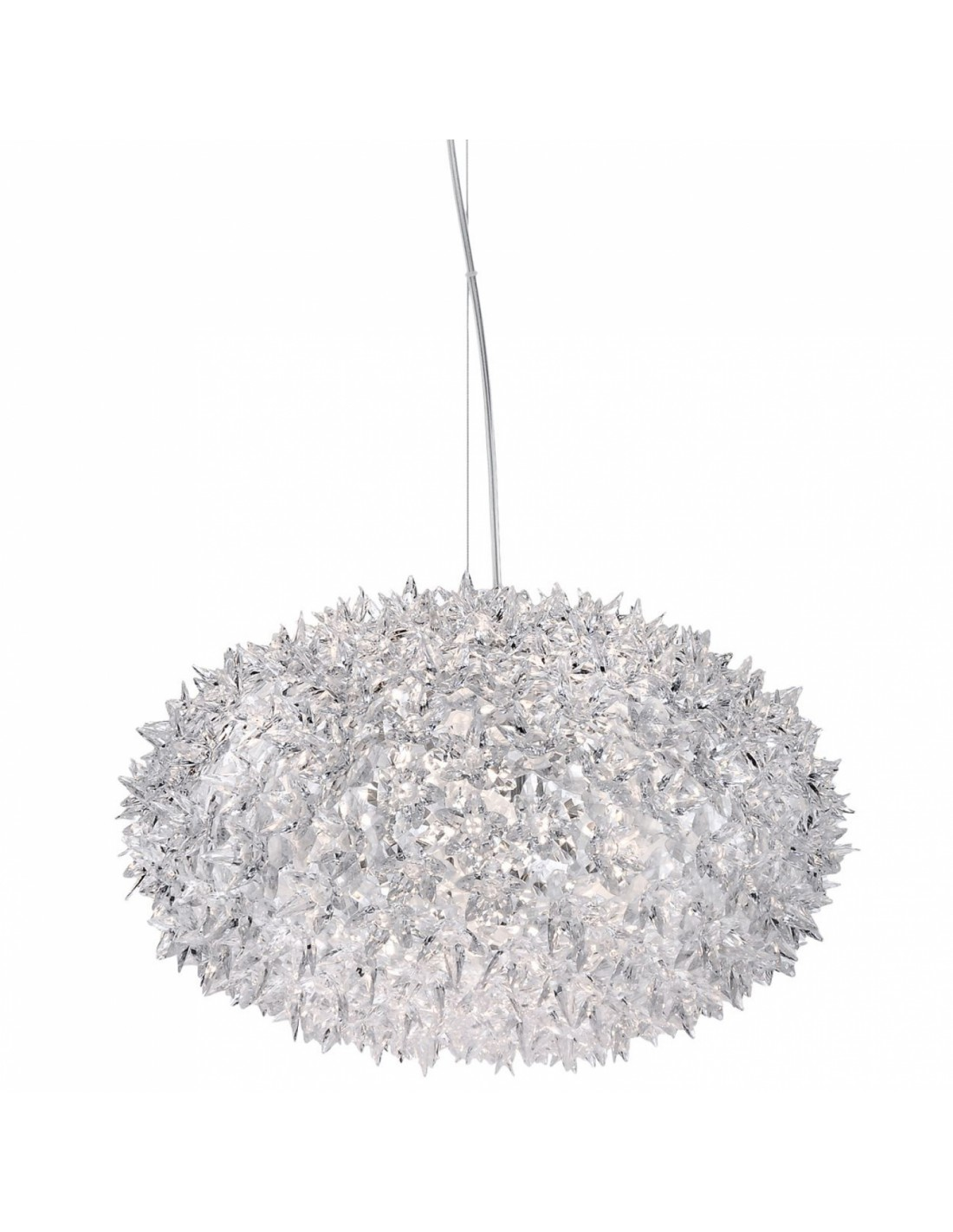 Suspension Bloom Ovale (ø 53 cm) transparent pour la marque Kartell