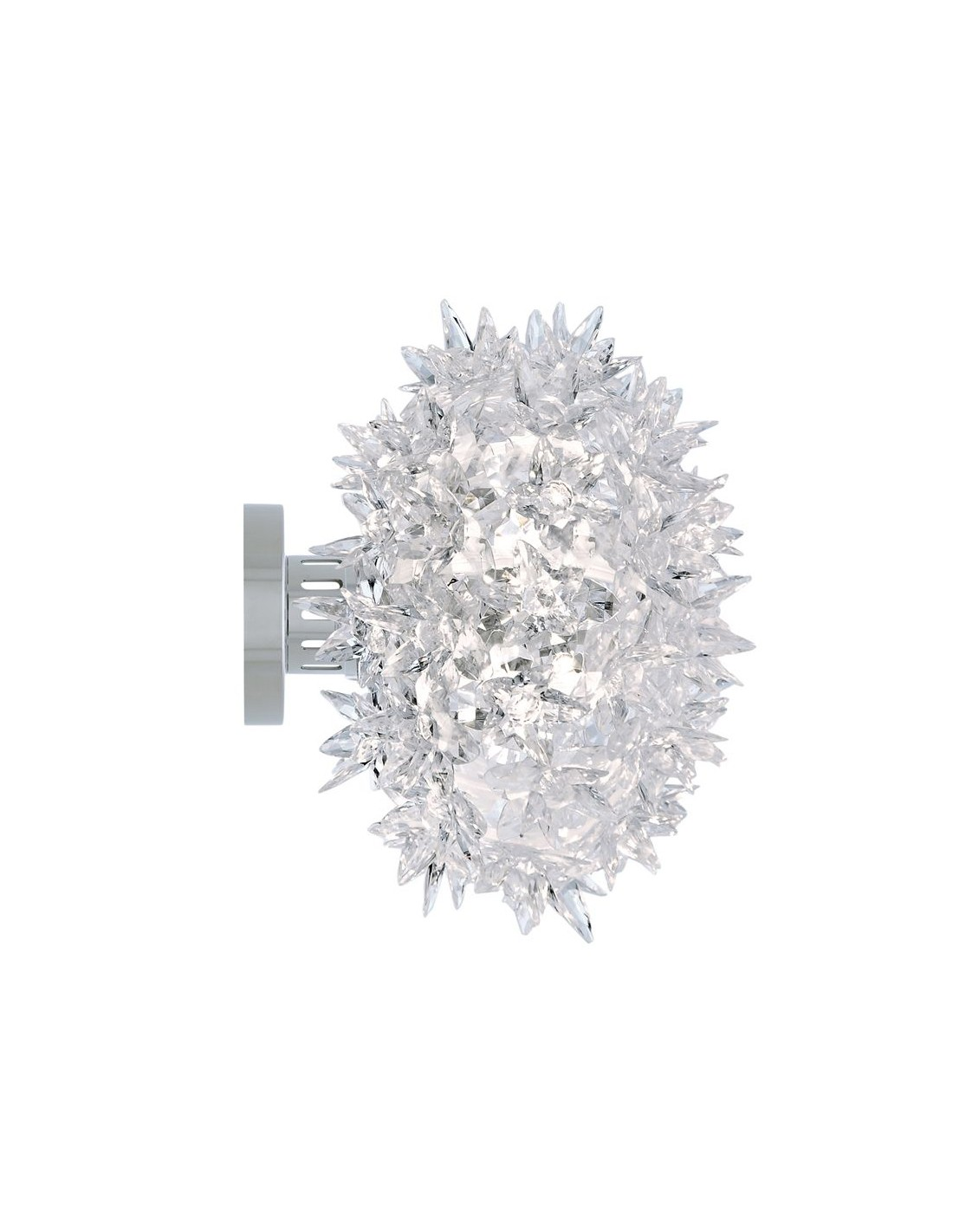 Applique / Plafonnier Bloom Ovale Ø 28 cm transparente comme du cristal pour la marque Kartell
