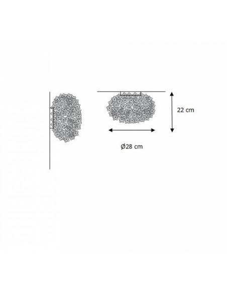 Applique / Plafonnier Bloom Ovale Ø 28 cm plan pour la marque Kartell