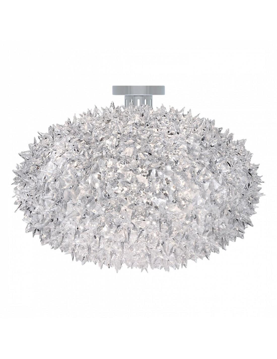 Plafonnier Bloom Ovale cristal (ø 53 cm) vue de face