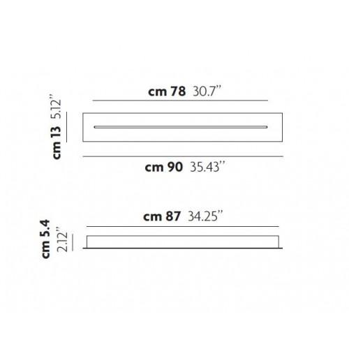 Patère linéaire 90 cm pour 3 suspensions Sky Fall