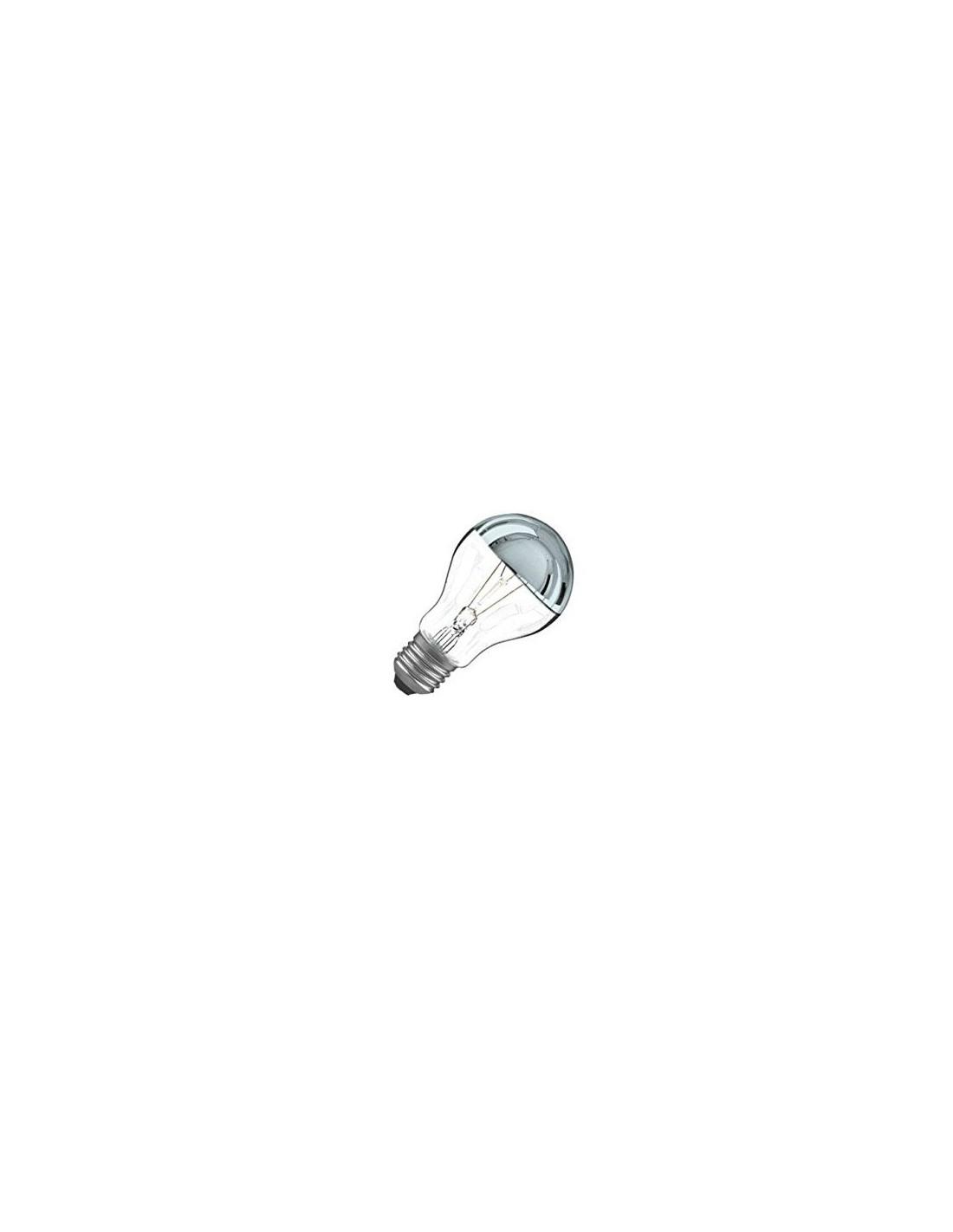 Ampoule E27 100W Calotte Argentée Incandescente