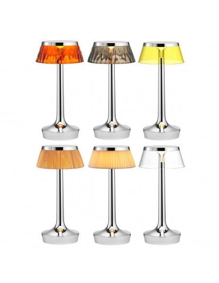 lampe sans fil bon jour chrome collection de flos - Philippe Starck - Valente Design