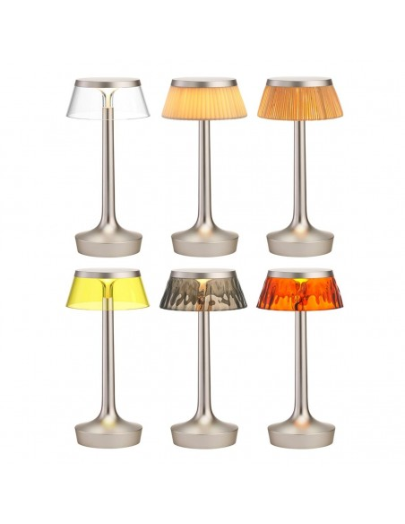 lampe sans fil bon jour chrome mat collection de flos - Philippe Starck - Valente Design