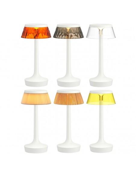 lampe sans fil bon jour blanche collection de flos - Philippe Starck - Valente Design