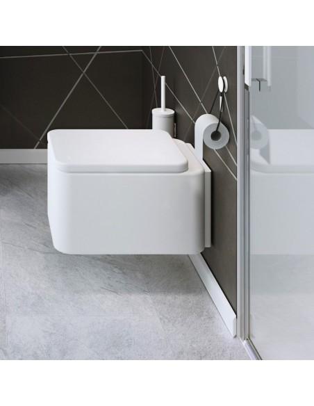 Valente design accessoires-bain-porte-rouleau par Bath+