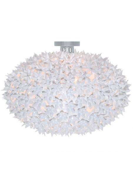 Plafonnier Bloom Ovale (ø 53 cm) blanche vue de face pour la marque Kartell
