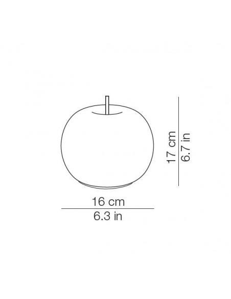 valente design liminaires lampe de table Kushi mobile dimensions pour la marque Kundalini