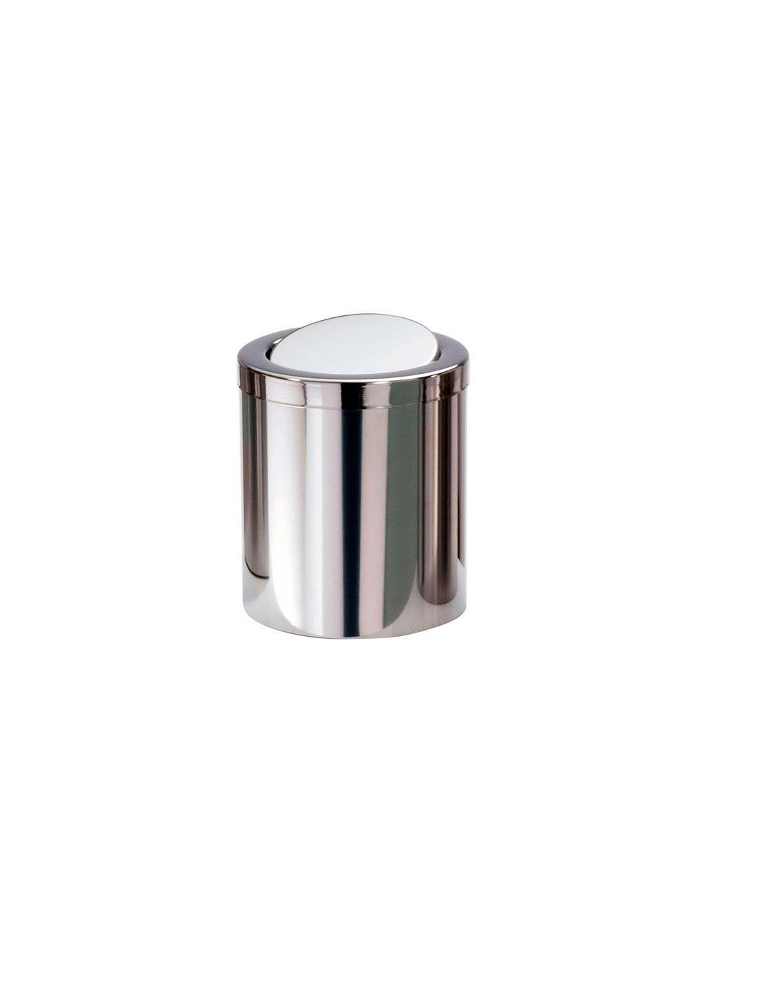 Valente design accessoires bain mini poubelle dw1240 acier poli - Mini poubelle salle de bain ...