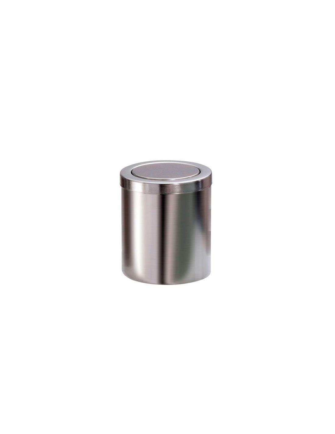 Valente design accessoires bain mini poubelle dw1240 acier mat - Mini poubelle salle de bain ...