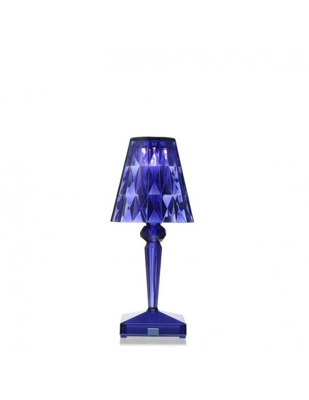lampe de table sans fil battery bleu pour la marque kartell. Black Bedroom Furniture Sets. Home Design Ideas