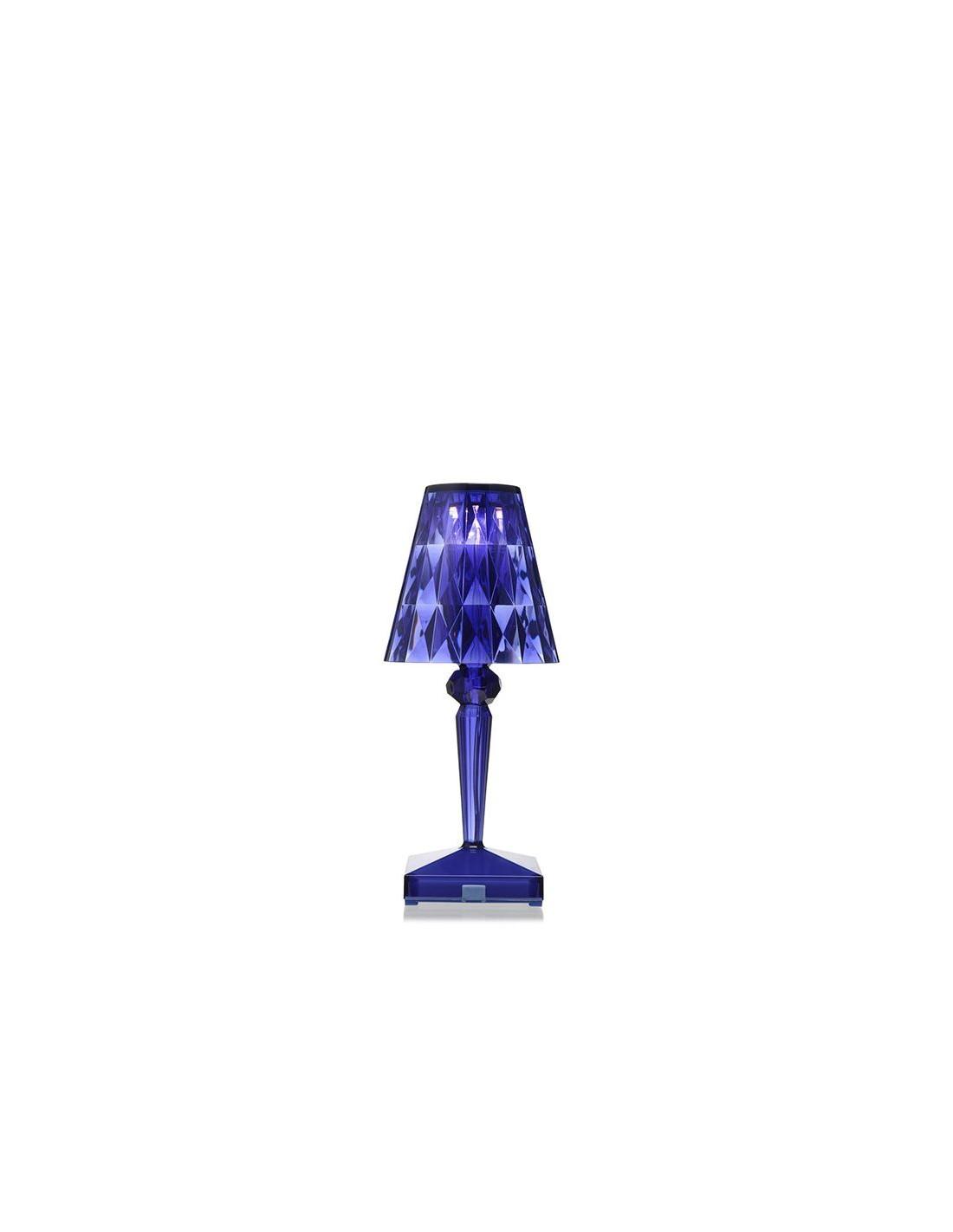 lampe de table sans fil battery bleu pour la marque kartell. Black Bedroom Furniture Sets. Home Design Ideas