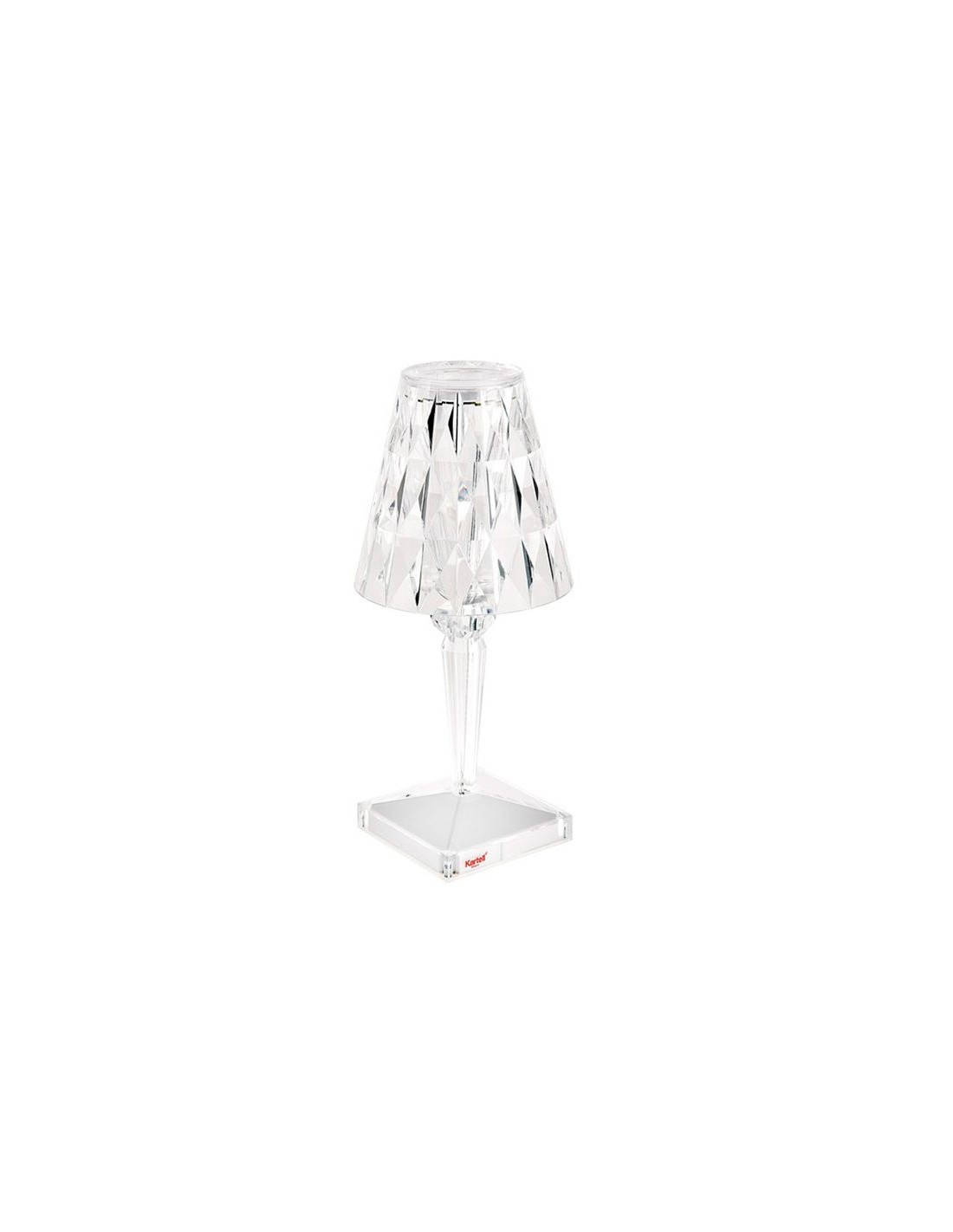 lampe de table sans fil battery cristal pour la marque kartell. Black Bedroom Furniture Sets. Home Design Ideas