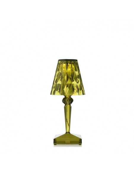 valente-design-lampe de table-kartell-battery-verte
