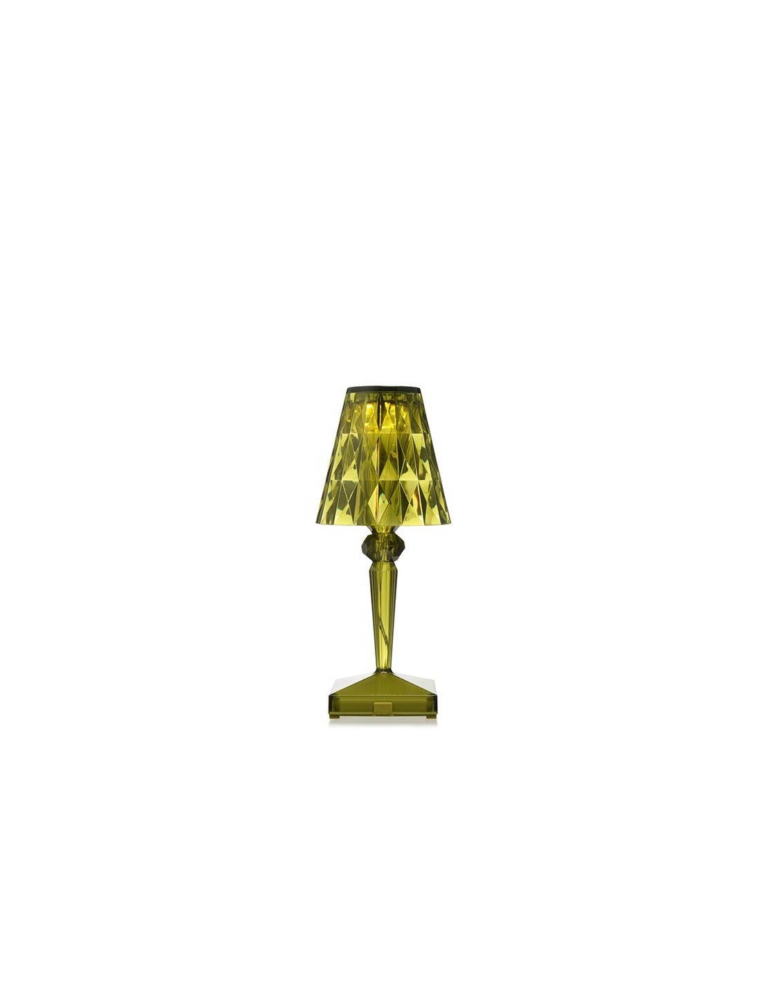 Lampe de table sans fil battery verte pour la marque kartell for Lampe de table rona