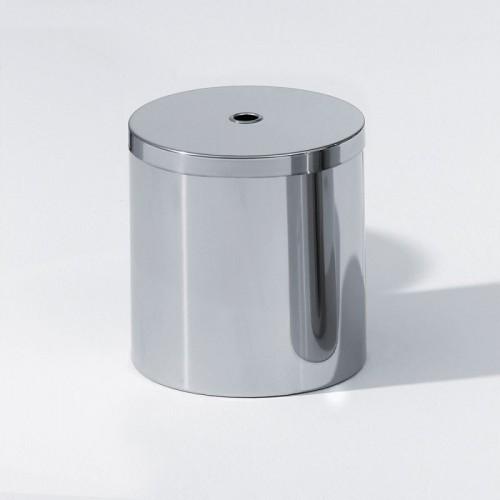 Poubelle ronde petit modèle avec couvercle en acier