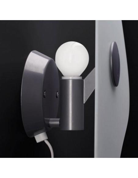 Ampoule de l\'applique murale bit 1 blanche de Ferruccio Laviani pour la marque Foscarini chez Valente Design