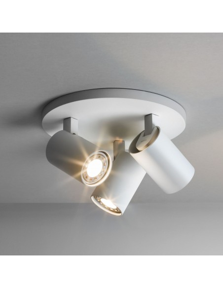 ascoli triple round valente design plafonnier astro lighting blanc