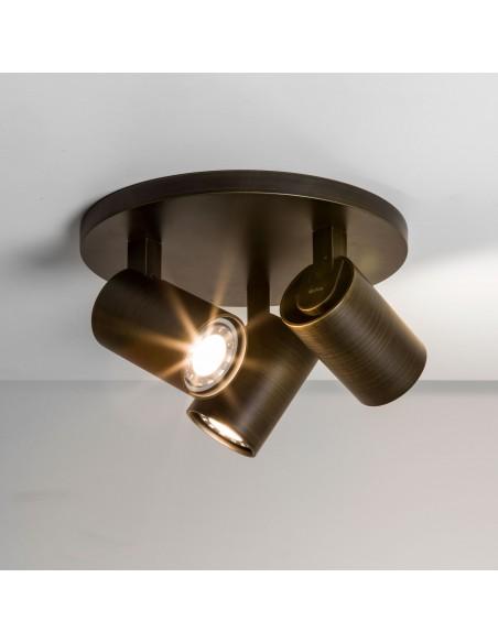 ascoli triple round valente design plafonnier astro lighting bronze