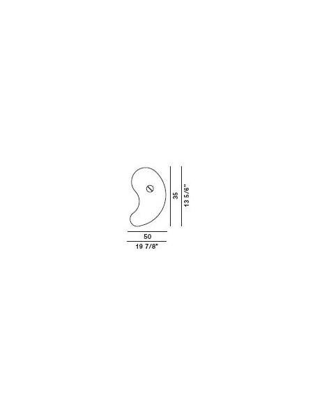 Schéma de l\'applique bit 1 de Ferruccio Laviani pour la marque Foscarini chez Valente Design