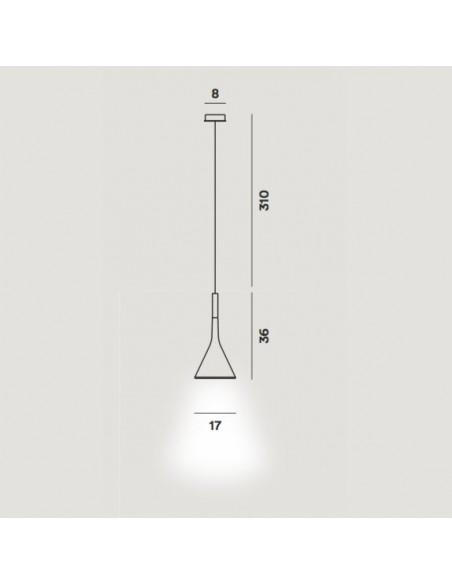 Suspension Aplomb LED foscarini dimensions