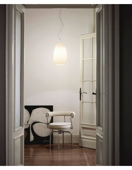 Suspension Buds 1 foscarini blanc mise en situations