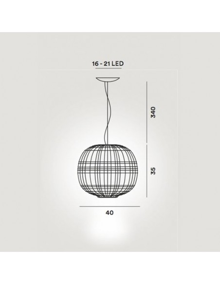 Suspension Tartan Foscarini dimension