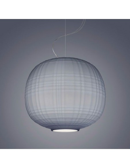 Suspension Tartan Foscarini gris gros plan