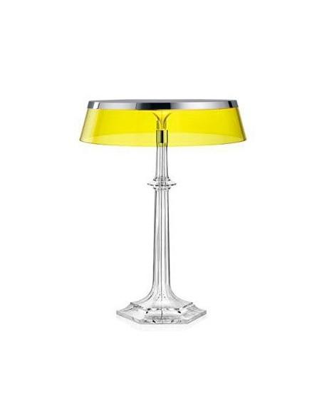 Lampe Bon Jour Versailles Baccarat Flos chrome transparent jaune situation de flos