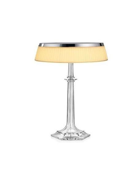 Lampe Bon Jour Versailles Baccarat Flos chrome tissu situation de flos