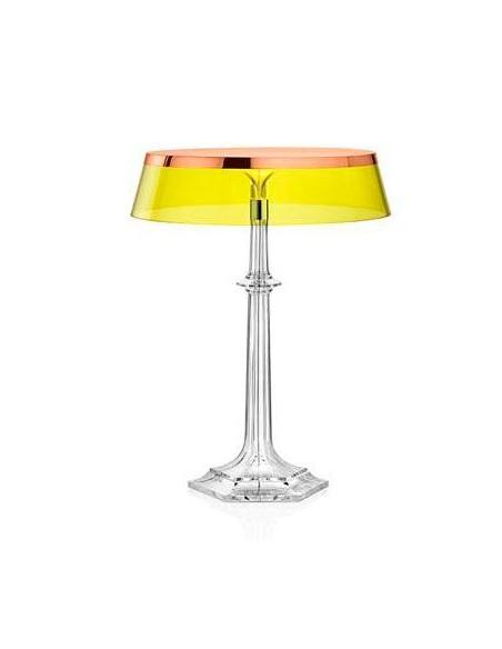 Lampe Bon Jour Versailles Baccarat Flos cuivré transparent jaune situation de flos