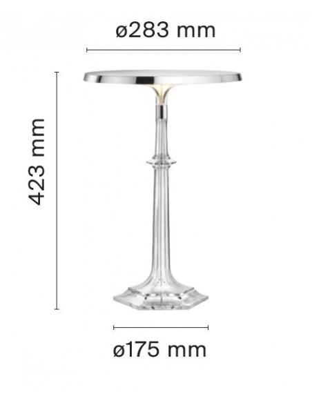 Lampe Bon Jour Versailles Baccarat Flos chrome transparent plan de flos