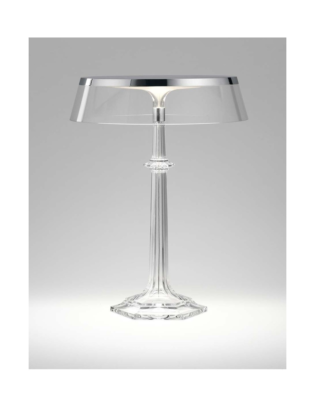 Lampe Bon Jour Versailles Baccarat Flos chrome transparent situation de flos