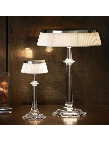 Lampe Bon Jour Versailles Baccarat Flos chrome transparent situation 3 de flos
