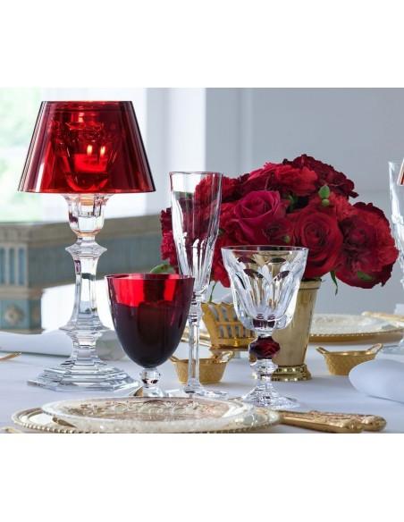 Lampe de table Harcourt Our Fire Bougeoir de couleur rouge de Philippe Starck pour la marque Baccarat - Valente Design