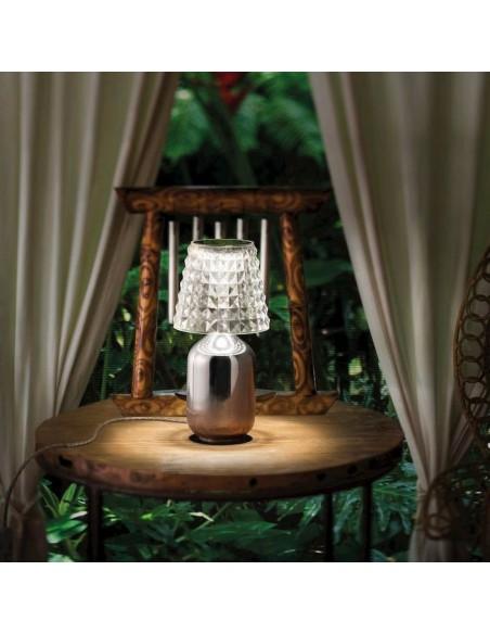 Lampe à poser Valentina chrome de Studio Italia Design