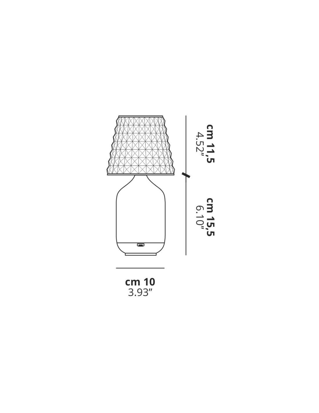 plan lampe poser valentina sans fil de studio italia design. Black Bedroom Furniture Sets. Home Design Ideas