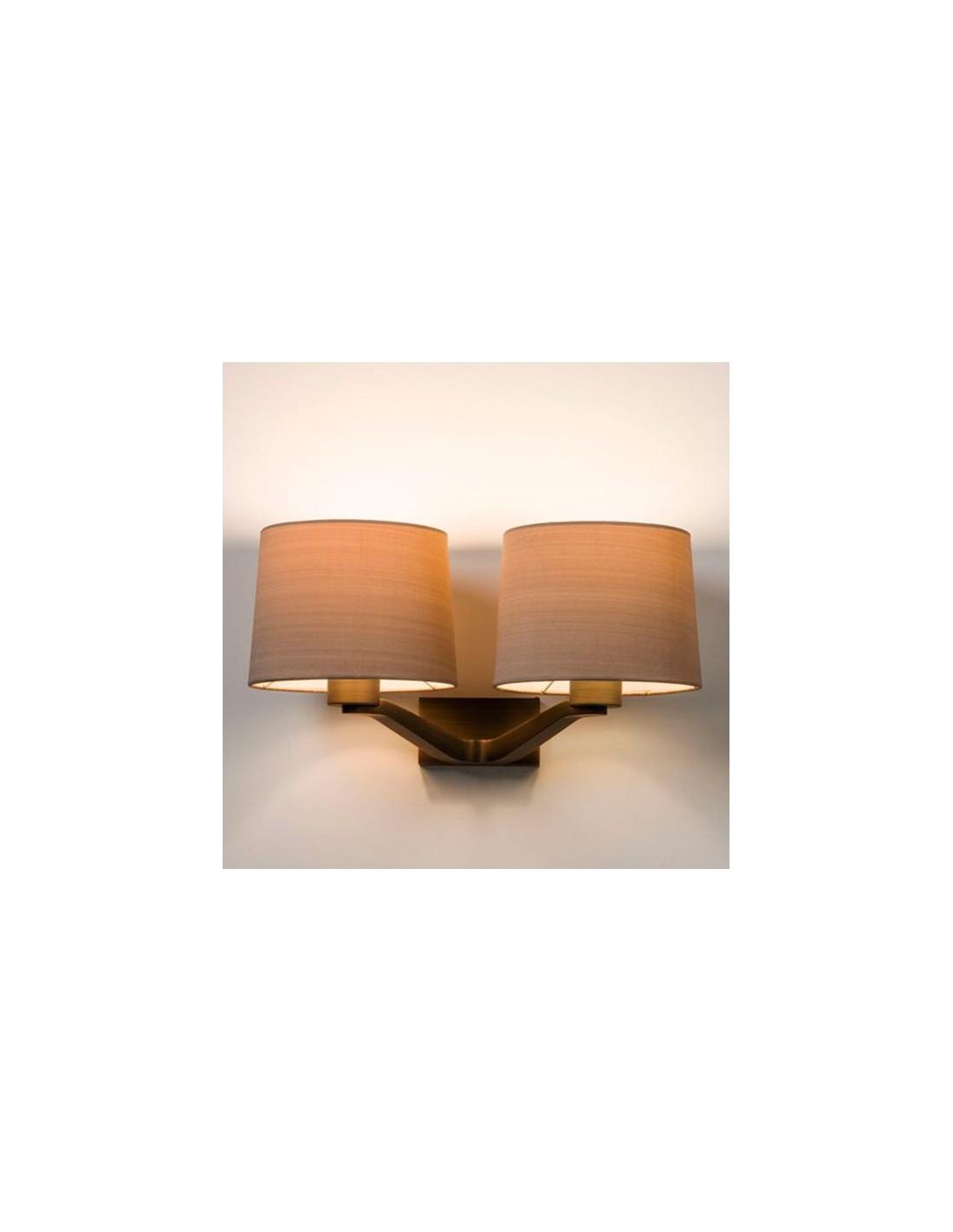 Applique Montclair Twin bronze abat jour huître astro lighting