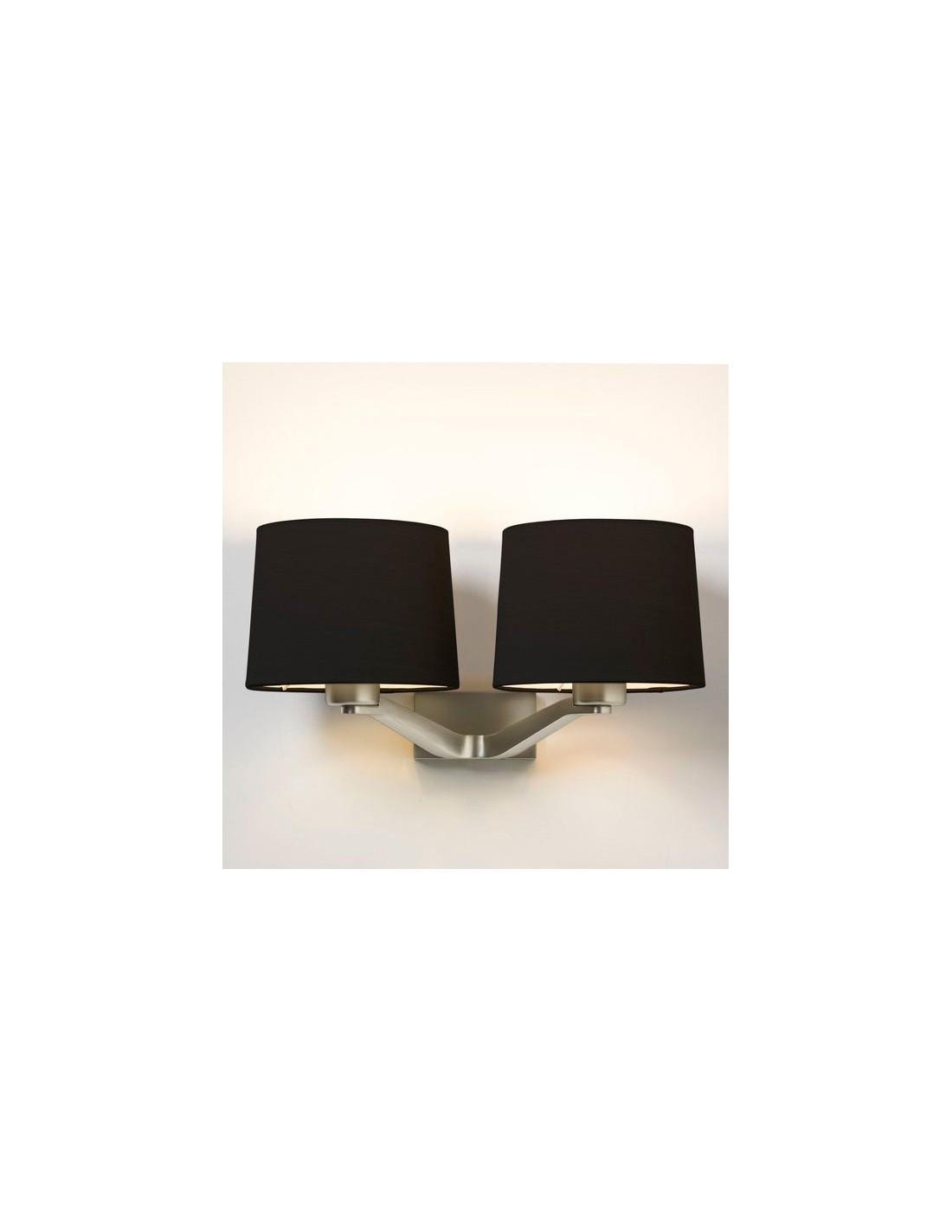 Applique Montclair Twin nickel mat abat jour noir astro lighting