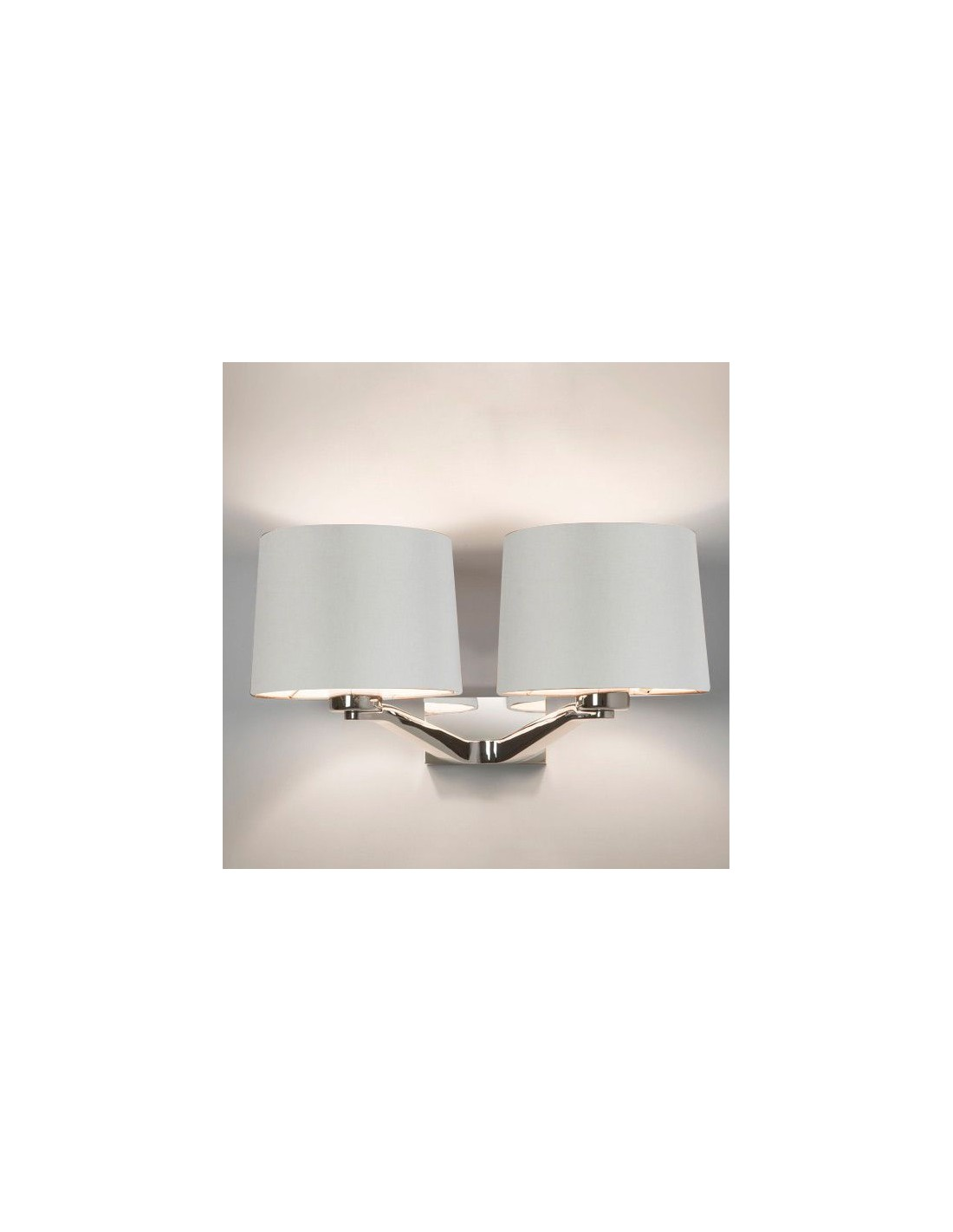 Applique Montclair Twin chrome abat jour blanc Astro lighting