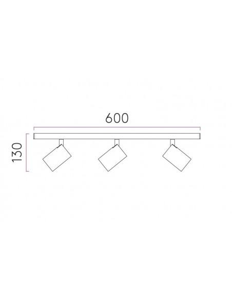 Plan plafonnier Ascoli triple Bar Astro lighting