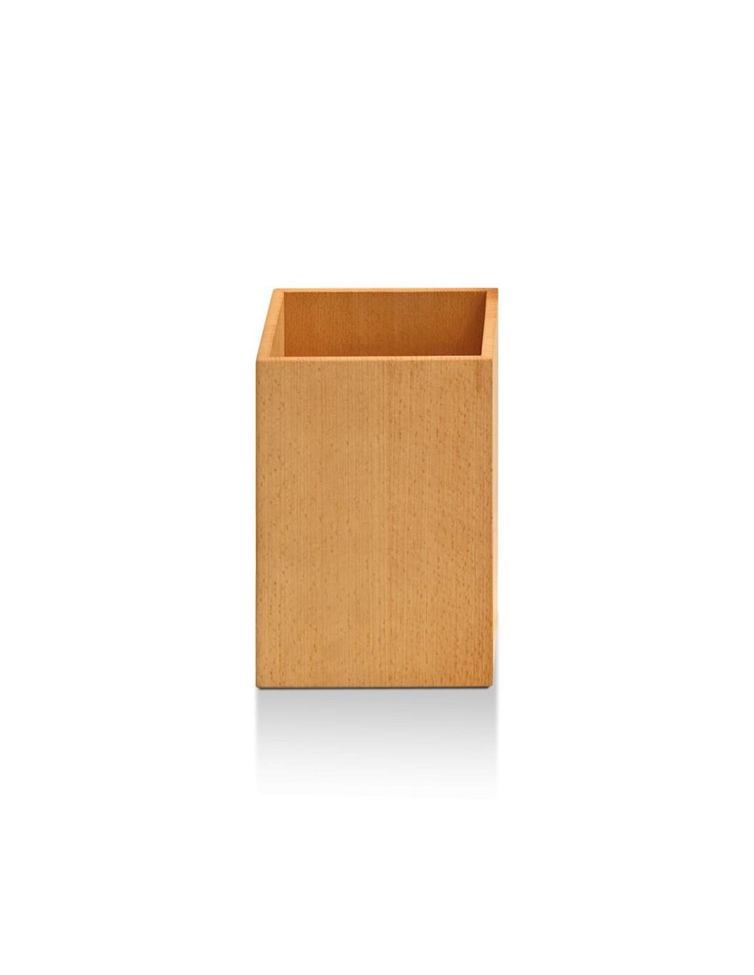 corbeille papier en bois massif h tre clair wood wo pk decor walther. Black Bedroom Furniture Sets. Home Design Ideas