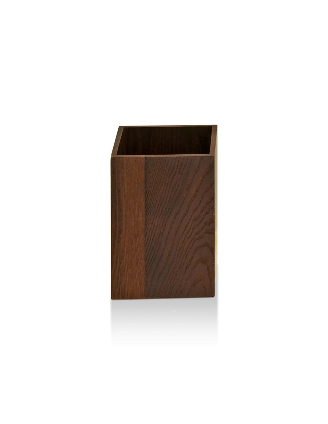 Corbeille à papier en bois Massif Wood WO PK en frêne thermo huilé foncé Decor Walther