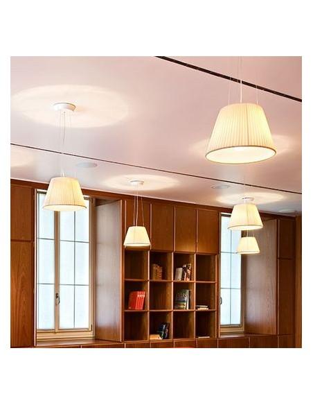 Ensemble de suspensions Romeo Babe Soft S dans un salon fait par Philippe Starck pour la marque Flos - Valente Design