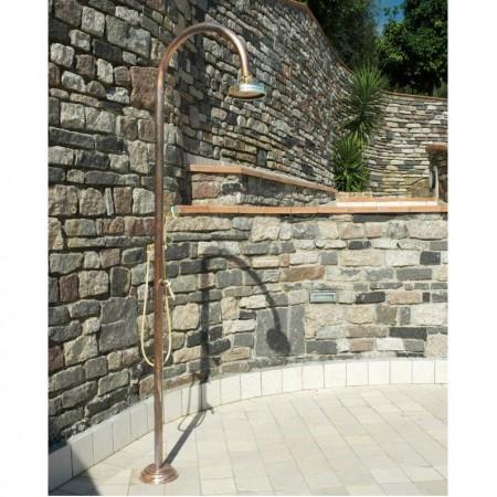 colonne de douche extérieur en cuivre mitigeur et pomme de douche ORIGO RAME C50R.ME Fontealta