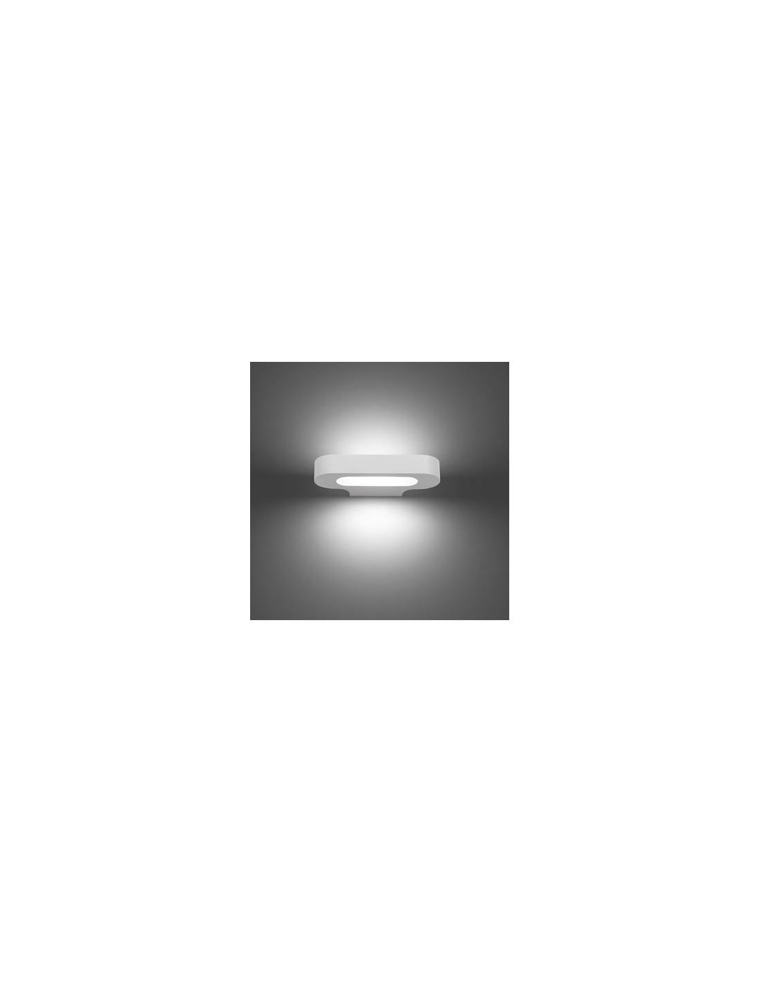 Applique Talo blanc allumée Artemide - Valente Design