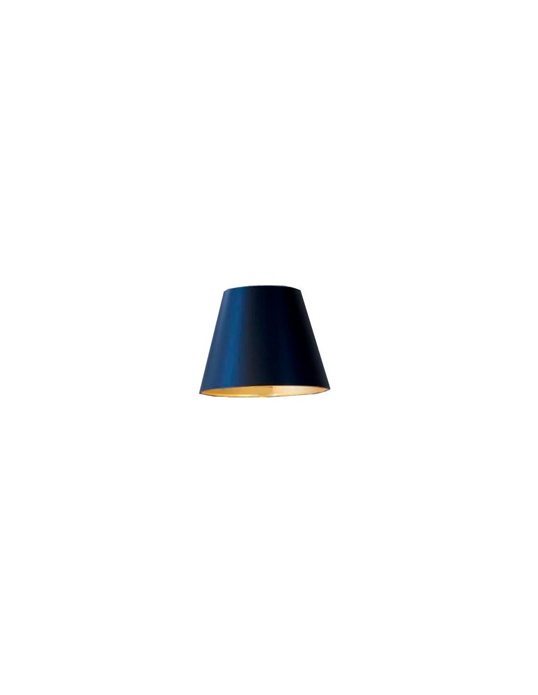 vue de trois-quart abat jour noir lampe de table bedside gun FLOS
