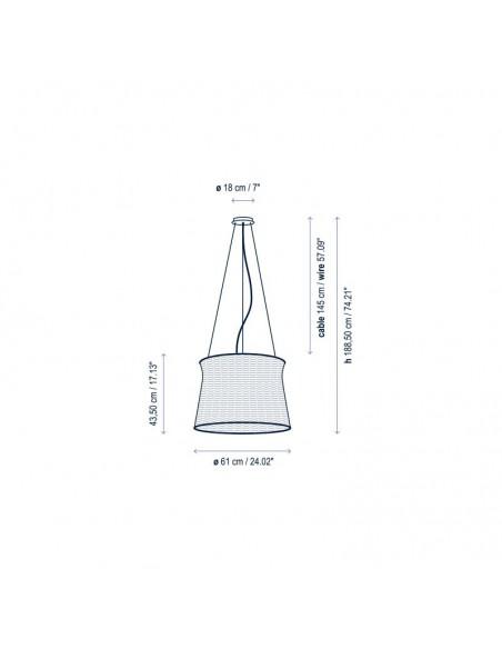 Dimensions suspension SYRA 60 Outdoor de BOVER - Valente Design