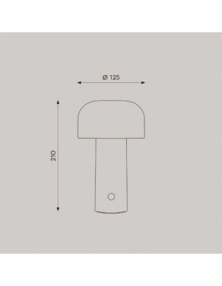 schéma et plan lampe de table BELLHOP  de FLOS