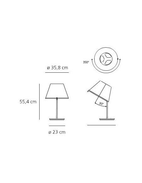 Lampe de table Choose Halogène chrome plan Artemide